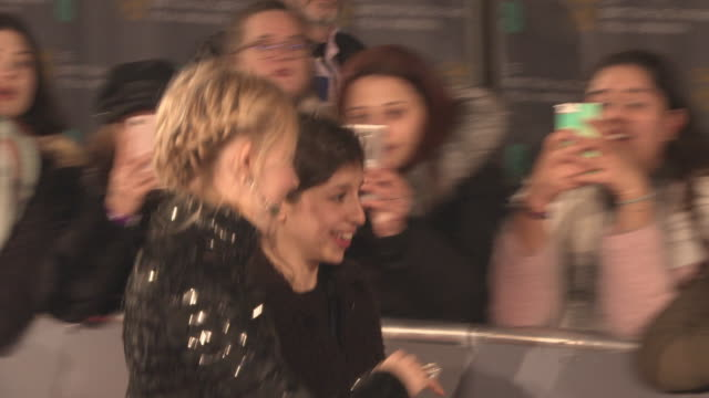 saoirse ronan at the ee british academy film awards at royal albert hall on february 18 2018 in london england - time's up social movement stock videos and b-roll footage