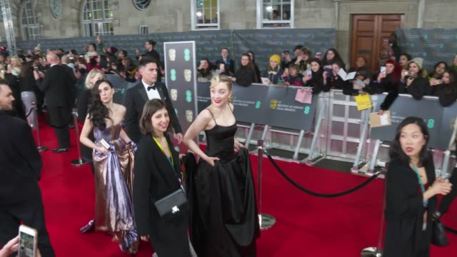 saoirse ronan attends the ee british academy film awards 2020 red carpet arrivals at royal albert hall on february 2 2020 in london england - british academy film awards stock videos & royalty-free footage