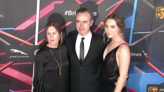 saoirse ronan finola dwyer john crowley at 2015 jaguar land rover british academy britannia awards presented by american airlines in los angeles ca - land rover stock videos and b-roll footage