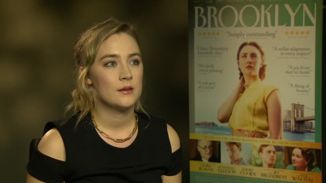 saoirse ronan on how she felt a huge responsibility, how it was an irish project shot close to where she grew up, the collision of work and home, how... - shot put stock videos & royalty-free footage