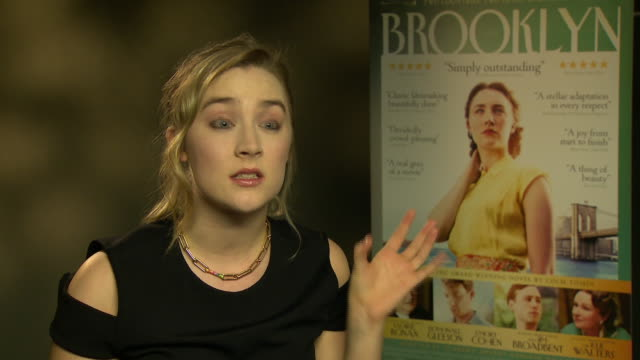 INTERVIEW Saoirse Ronan on how she initially thought it was an Irish project how New York is a huge part of who she is and how this is a human story...