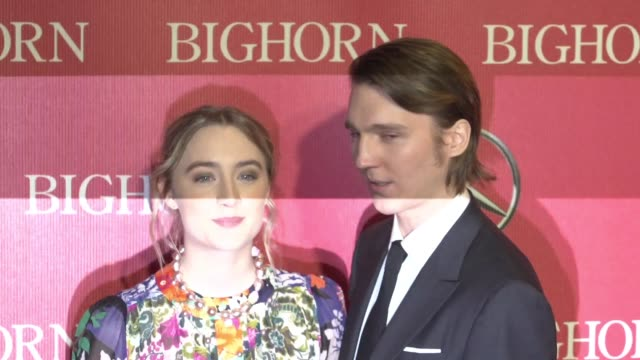 saoirse ronan paul dano at 27th annual palm springs international film festival awards gala in los angeles ca - gala stock videos & royalty-free footage