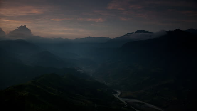 sapa sunrise - sa pa stock videos and b-roll footage