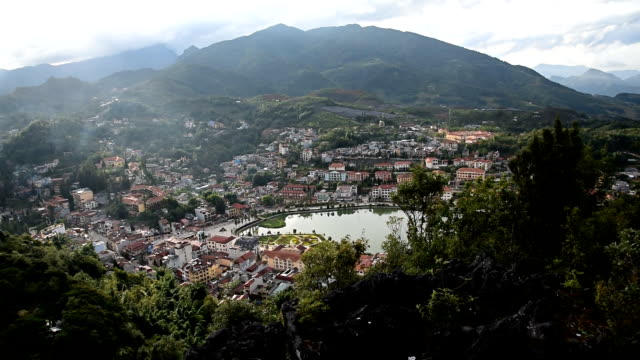 sapa town, lao cai province, vietnam - sa pa stock videos and b-roll footage