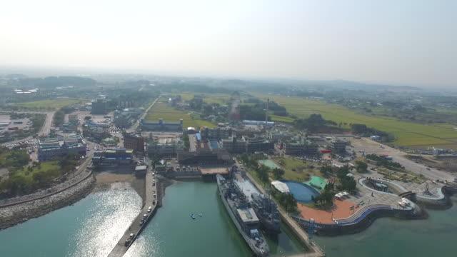 sapgyoho amusement park, sapgyoho ocean park, sapgyo hamsang park / dangjin-si, chungcheongnam-do, south korea - luogo d'interesse locale video stock e b–roll