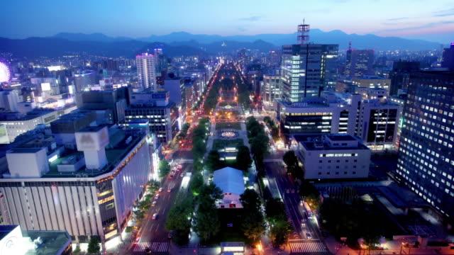 sapporo hokkaido japan - hokkaido stock videos & royalty-free footage