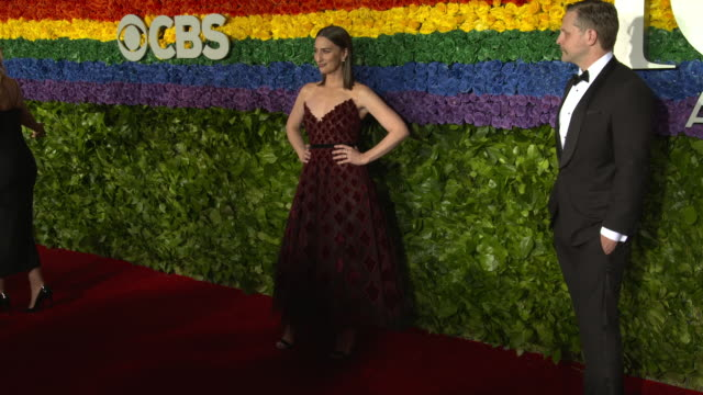 sara bareilles and joe tippett at the 73rd annual tony awards arrivals at radio city music hall on june 09 2019 in new york city - annual tony awards stock videos & royalty-free footage