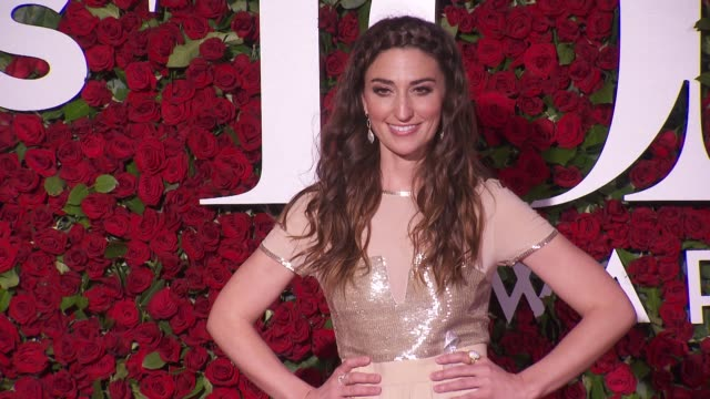 sara bareilles at 2016 tony awards red carpet at the beacon theatre on june 12 2016 in new york city - 70th annual tony awards stock videos and b-roll footage