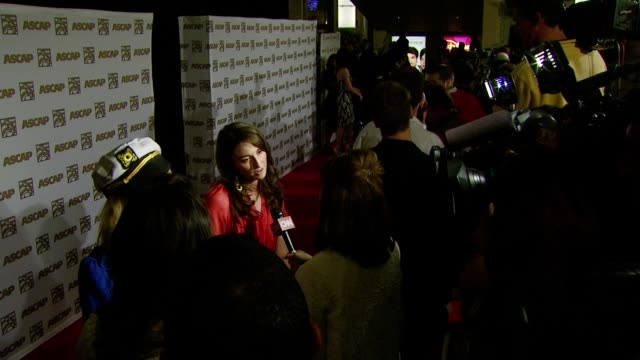 vidéos et rushes de sara bareilles at the ascap's 25th annual pop music awards at the kodak theatre in hollywood, california on april 9, 2008. - ascap