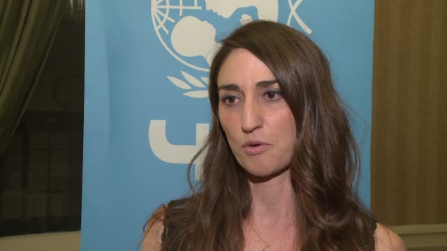 interview sara bareilles on helping unicef at 12th annual unicef snowflake ball at cipriani wall street on november 29 2016 in new york city - cipriani manhattan stock videos & royalty-free footage