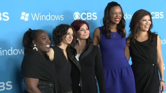 Sara Gilbert Sharon Osbourne at CBS 2012 Fall Premiere Party on 9/18/2012 in West Hollywood CA