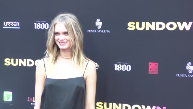 sara paxton at the premiere of pantelion films' sundown at arclight theatre in hollywood in celebrity sightings in los angeles, - サラ パクストン点の映像素材/bロール