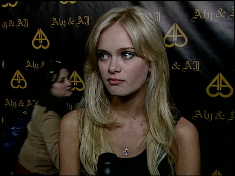 sara paxton on attending the party, what she loves about aly and aj, a birthday wish for the girls at the sisters aly & aj celebrate their birthdays... - サラ パクストン点の映像素材/bロール