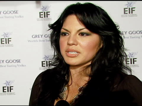 sara ramirez on being there to see jennifer hudson, on the rolls-royce, on grey goose, on going to the golden globes + b-roll at the grey goose vodka... - ロールスロイスシルバーファントム点の映像素材/bロール