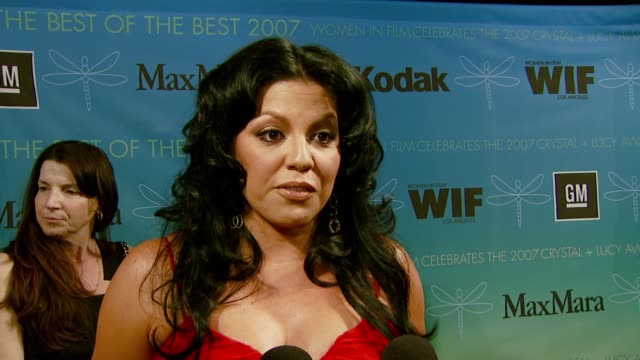 sara ramirez on the importance of women supporting each other, and working with the women on the cast of 'grey's anatomy' at the women in film... - cast member stock videos & royalty-free footage