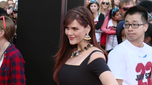 sara rue at 22 jump street los angeles premiere at regency village theatre on june 10 2014 in westwood california - regency style stock videos and b-roll footage
