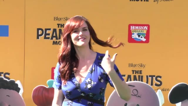 Sara Rue at The Peanuts Movie Premiere at Regency Village Theatre in Westwood on November 01 2015 in Los Angeles California