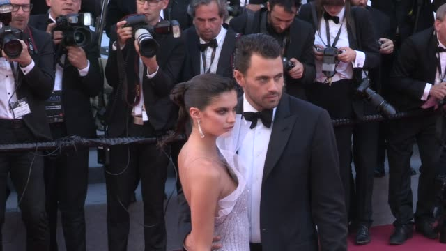 Sara Sampaio and boyfriend Olivier Ripley on the red carpet for the Premiere of 120 battements par minutes at the Cannes Film Festival 2017 Cannes...