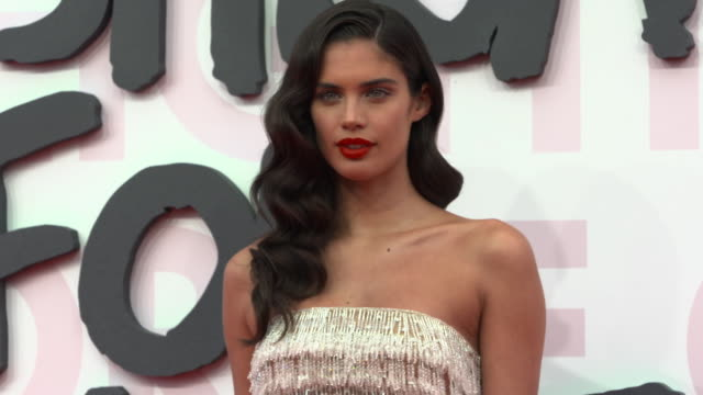 sara sampaio at fashion for relief fashion catwalk - the 71st cannes fillm festival at aeroport cannes mandelieu on may 13, 2018 in cannes, france. - 第71回カンヌ国際映画祭点の映像素材/bロール