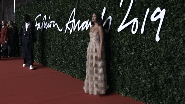 sara sampaio at the fashion awards 2019 at royal albert hall on december 02, 2019 in london, england. - award stock videos & royalty-free footage