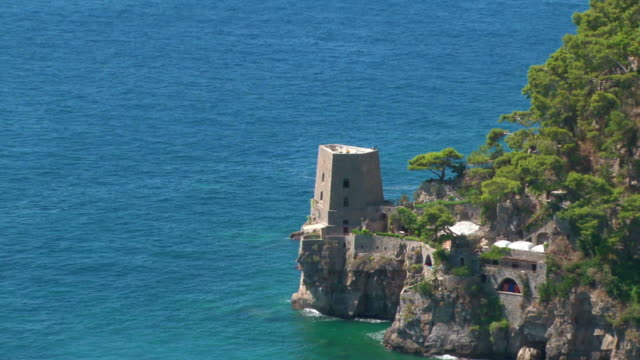 Saracen tower on Amalfi Coast, Italy