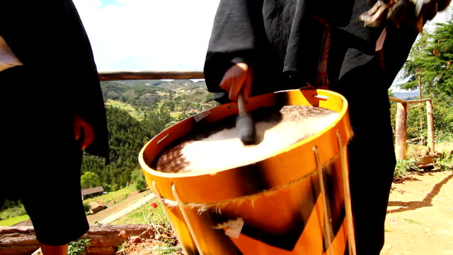 saraguro musicians interpret tradicional song. - loja stock videos and b-roll footage