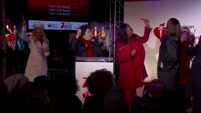 Sarah Bazey Judy Kaye Star Jones at the American Heart Association Go Red For Women 10th Year Celebration on in New York NY