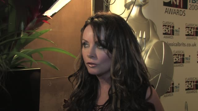 sarah brightman on andrew lloyd webber at the classical brits awards launch on april 8, 2008. - sarah brightman stock videos & royalty-free footage
