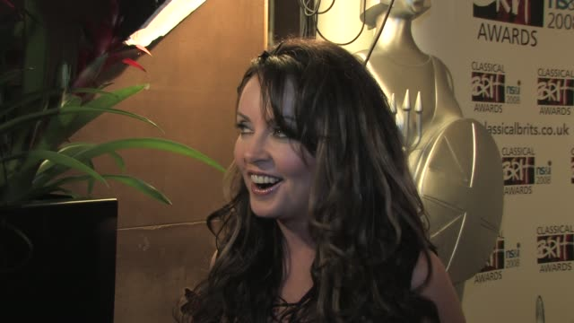 sarah brightman on being more open to all sort of things at the classical brits awards launch on april 8, 2008. - sarah brightman stock videos & royalty-free footage