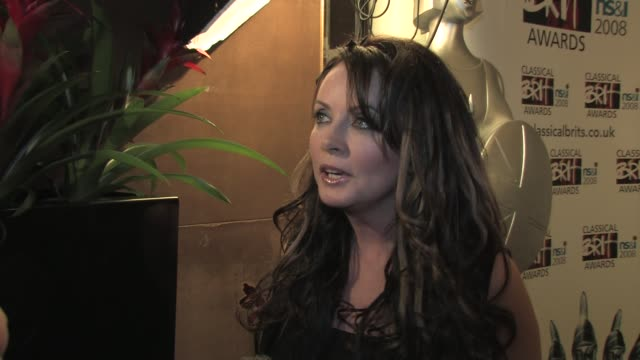 sarah brightman on her long career which enables her to take on other challenges at the classical brits awards launch on april 8, 2008. - sarah brightman stock videos & royalty-free footage