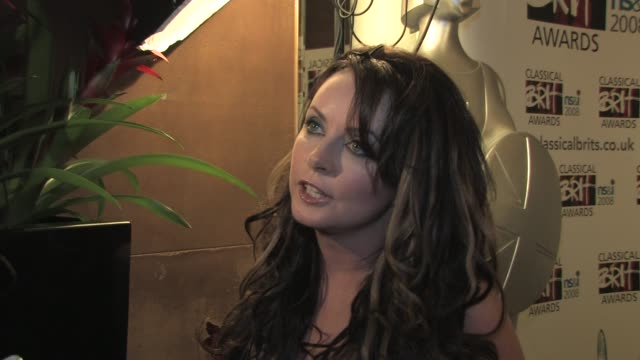 sarah brightman on how music dictates who you work with at the classical brits awards launch on april 8, 2008. - sarah brightman stock videos & royalty-free footage