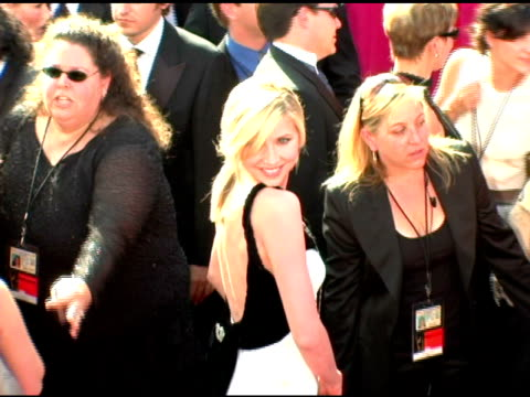 sarah chalke at the 2005 emmy awards at the shrine auditorium in los angeles california on september 18 2005 - sarah chalke stock videos & royalty-free footage