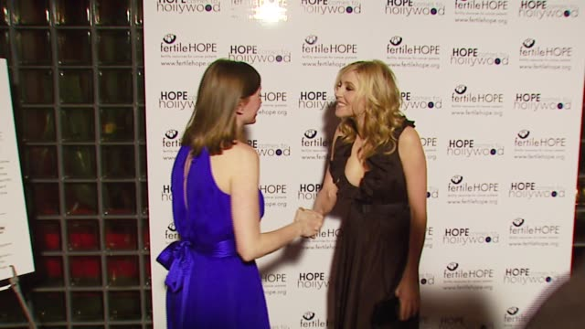 sarah chalke at the fertile hope's benefit gala 'hope comes to hollywood' at republic restaurant lounge in west hollywood california on march 24 2007 - sarah chalke stock videos & royalty-free footage