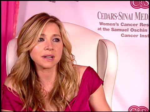 sarah chalke on early cancer detection at the elyse walker's pink party benefitting cedarssinai women's cancer research institute at hotel viceroy in... - sarah chalke stock videos & royalty-free footage