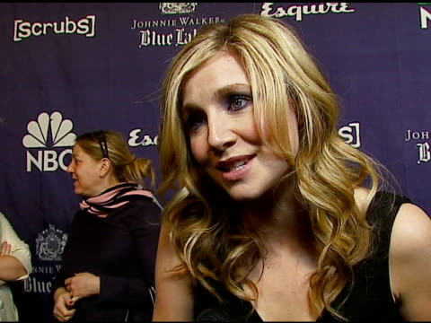 sarah chalke on the new season of scrubs on how the cast is like a family on the event tonight on the musical episode on painting the scrubs on... - sarah chalke stock videos & royalty-free footage