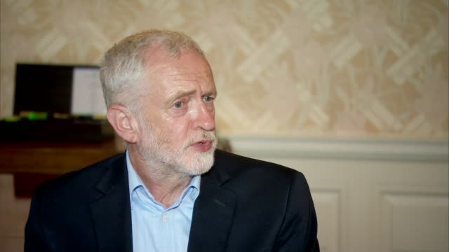 Jeremy Corbyn interview ENGLAND INT Jeremy Corbyn MP interview SOT On Labour MP Sarah Champion resignation from the shadow cabinet / on US President...