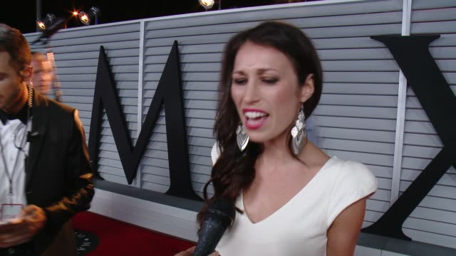 interview sarah charness on being at the event at the maxim hot 100 and relaunch party at pacific design center on june 10 2014 in west hollywood... - pacific design center stock videos and b-roll footage