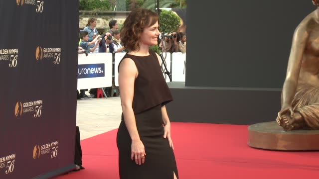 sarah clarke at 56th monte carlo tv festival - day 4 on june 16, 2016 in monaco, monaco. - 女優 サラ クラーク点の映像素材/bロール