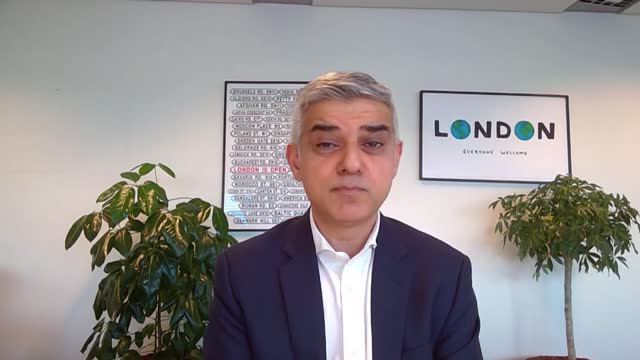 sarah everard disappearance: sadiq khan interview; england: london: int sadiq khan interview via the internet sot. - thoughts and prayers of all... - passion stock videos & royalty-free footage
