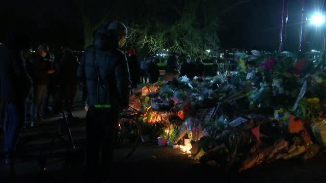 candlelight vigil on clapham common; england: london: clapham common: ext / night candles and flowers left on bench in memory of murder victim sarah... - candlelight stock videos & royalty-free footage