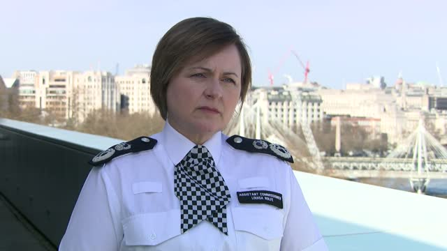 metropolitan police interviews; england: london: ext louisa rolfe interview sot. q - senior commanders feel vindicated now, but how concerned are you... - crime and murder stock-videos und b-roll-filmmaterial
