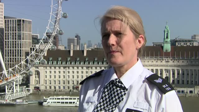 metropolitan police interviews; england: london: ext imogen hurst interview sot q - you were there as part of the police liaison teams... a - we... - crime and murder stock-videos und b-roll-filmmaterial