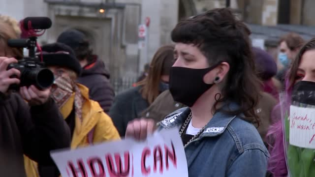 parliament square protest; england: london: westminster: parliament square: ext **warning bad language** protesters at vigil/protest against the... - crime and murder stock videos & royalty-free footage