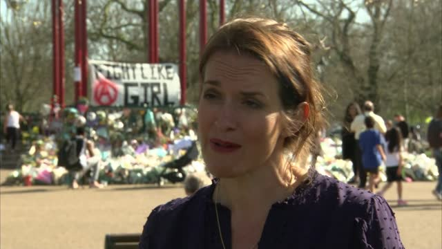 police watchdog finds that officers acted appropriately at vigil; england: london: clapham common: ext jamie klingler interview sot - crime and murder stock-videos und b-roll-filmmaterial
