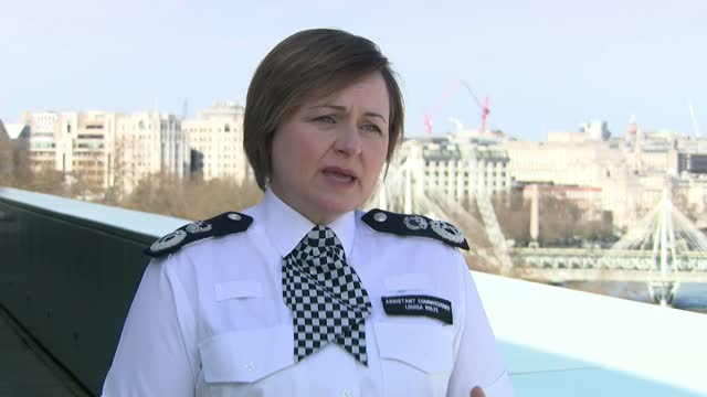 police watchdog finds that officers acted appropriately at vigil; england: london: ext asst comm louisa rolfe interview sot - really aware of how... - crime and murder stock-videos und b-roll-filmmaterial