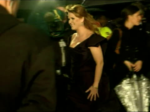 Sarah Ferguson and Princesses Beatrice and Eugenie arrive for the premiere of the movie The Young Victoria