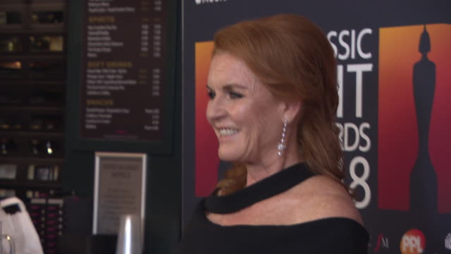 sarah ferguson at the classic brit awards at royal albert hall on june 13 2018 in london england - duchess of york stock videos & royalty-free footage