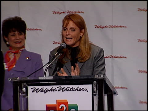 Sarah Ferguson at the Dutchess of York and Weight Watchers at Century Plaza in Century City California on April 28 1998