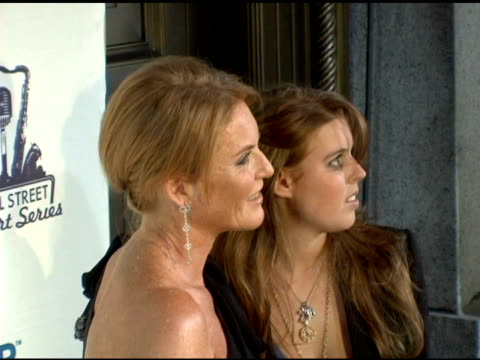 sarah ferguson duchess of york and daughter at the 2006 cipriani/deutsche bank concert series benefiting amfar at cipriani in new york new york on... - the bank of new york stock videos and b-roll footage