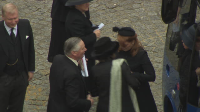 Sarah Ferguson Duchess of York at Baroness Thatcher Funeral St Paul's Cathedral High at St Paul's Cathedral on April 17 2013 in London England